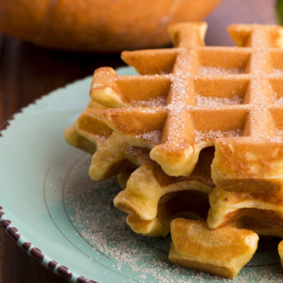 Thanksgiving Breakfast: Pumpkin Waffles and Maple Cream