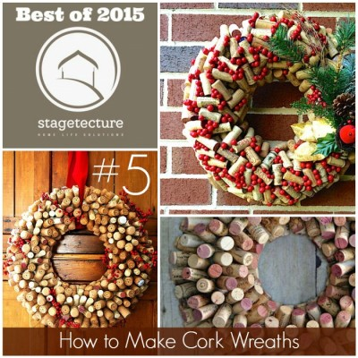 Best of 2015 – No 5 – How to Make Cork Wreaths