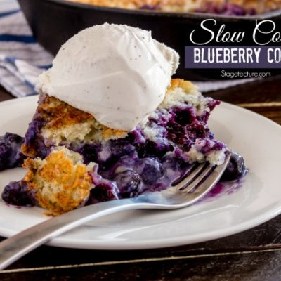 How to Perfect a Slow Cooker Dessert – Blueberry Cobbler