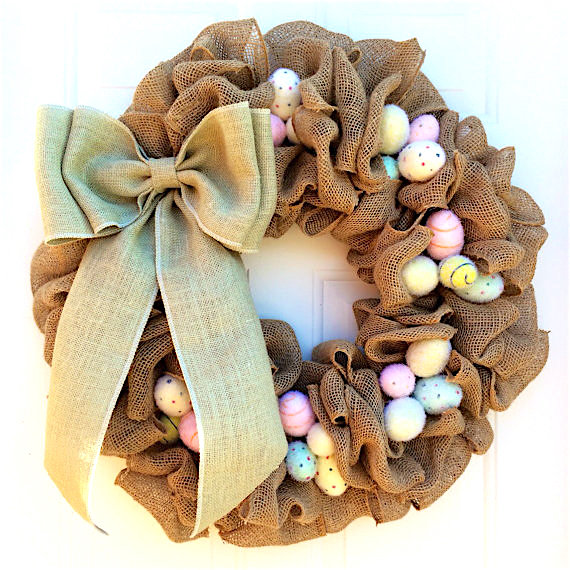 Easter Burlap Wreath Tutorial