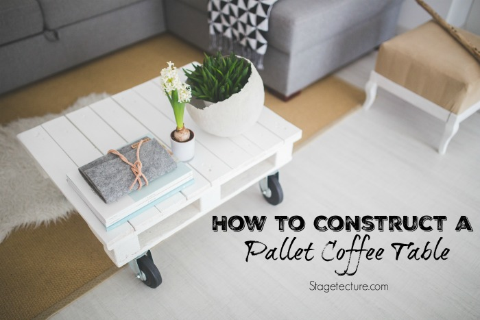 make a pallet coffee table