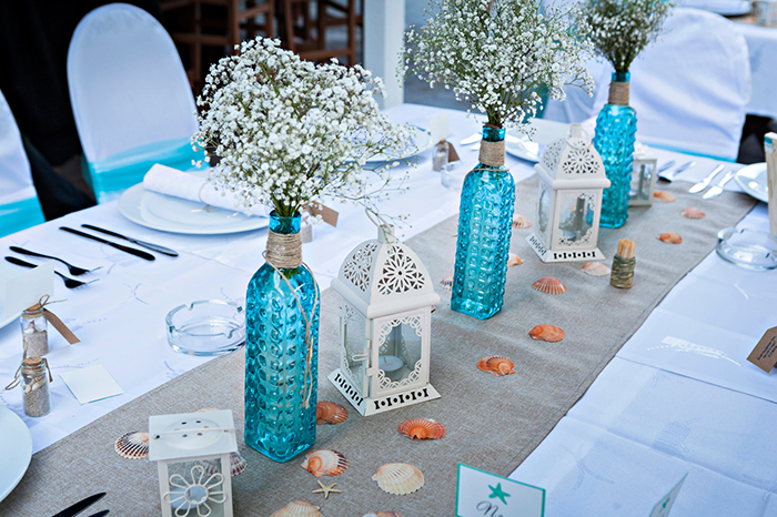 How to create romantic wedding reception centerpieces for Inexpensive wedding centrepieces