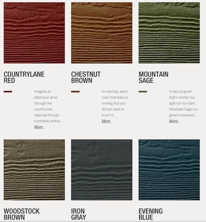 Color Siding Options_JamesHardieInspired