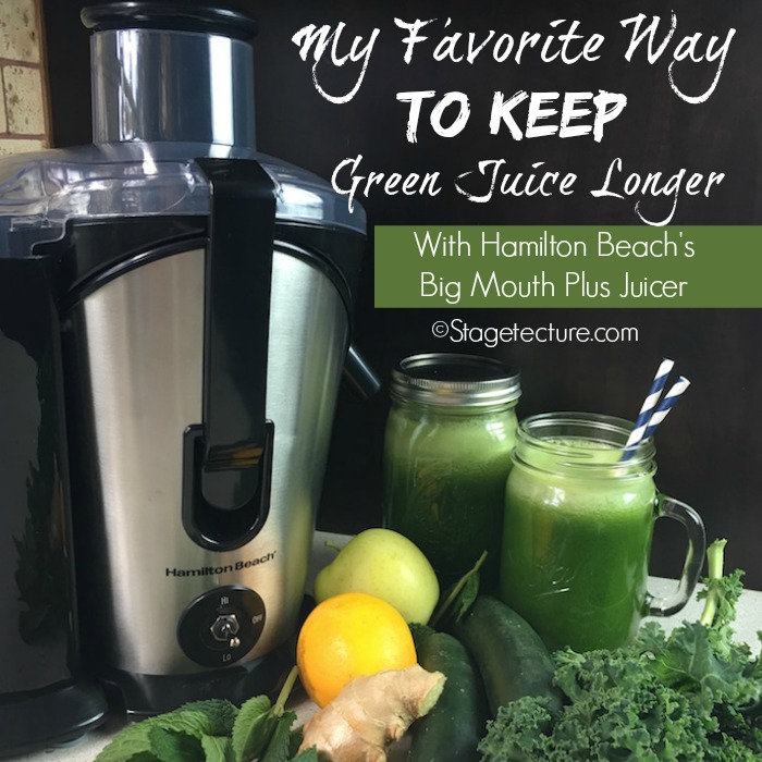 Hamilton Beach Review Stagetecture Green Juice