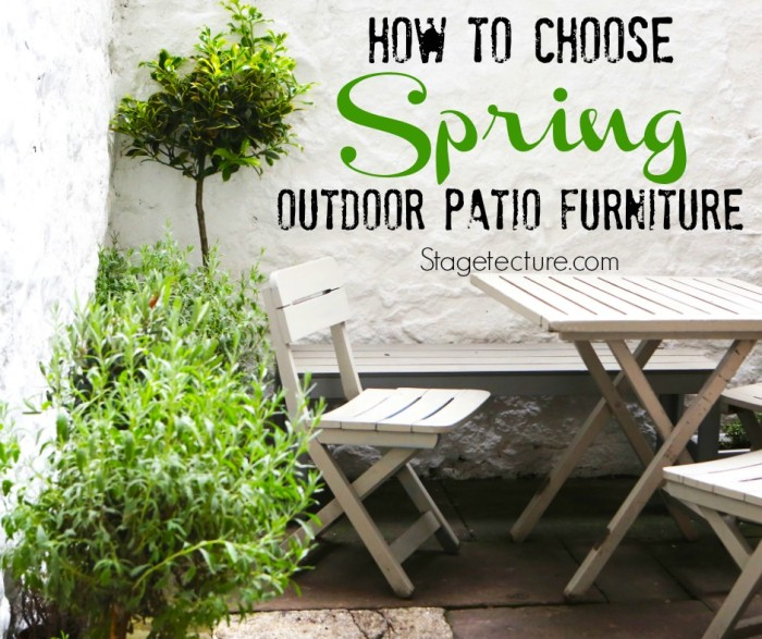 Outdoor patio furniture tips