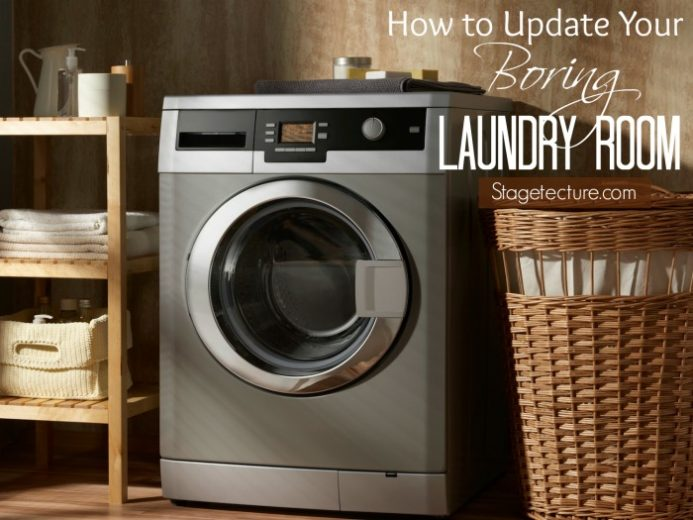 How to Update your Boring Laundry Room Decor