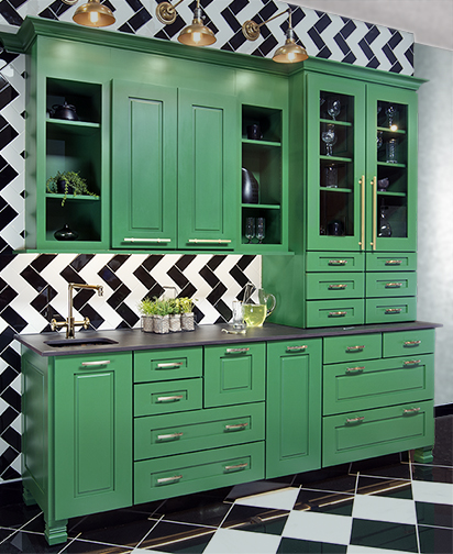 Wellborn Kitchen Cabinetry Green
