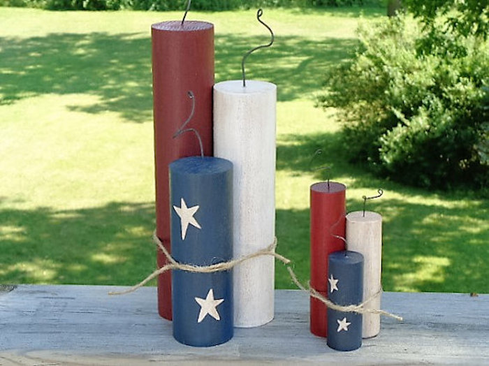 Americana 4th of July centerpiece
