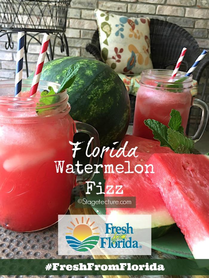Fresh From Florida_Watermelon Fizz Recipe Patio Idea