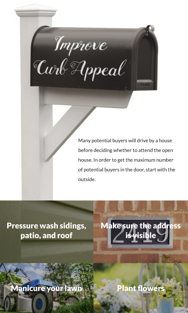 stage a home curb appeal tips