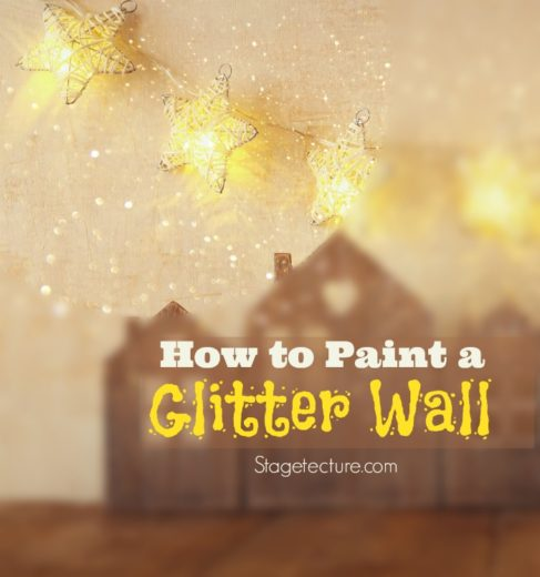 wall art tutorial how to use glitter wall paint. Black Bedroom Furniture Sets. Home Design Ideas