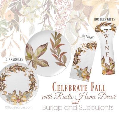 Rustic Decor Dinner Party Ideas: Burlap and Succulents Shop