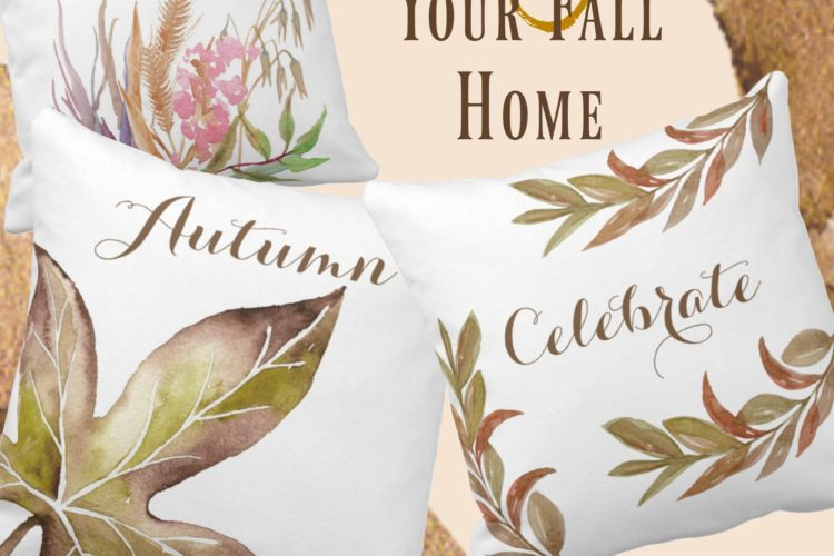 Rustic Throw Pillows for Fall: Burlap and Succulents Shop