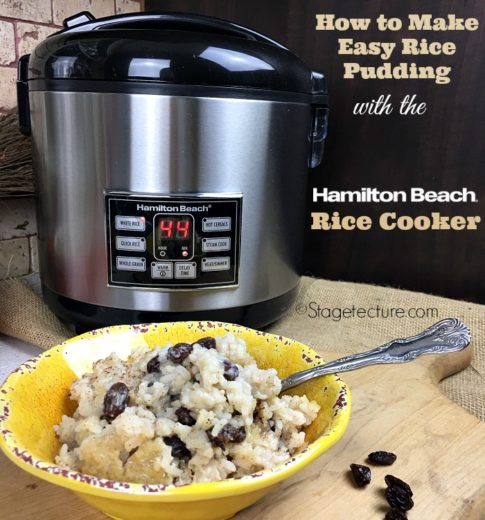 Hamilton Beach's Rice Cooker: Making Rice Pudding With Cooked Rice