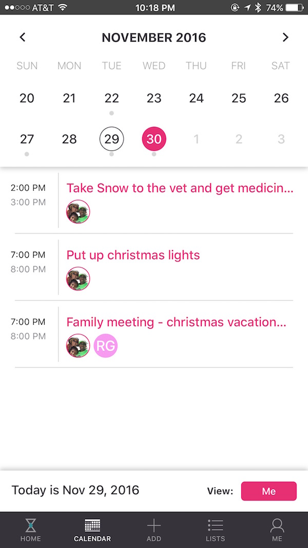 Calendar Organization App : Family calendar how curago app organizes our