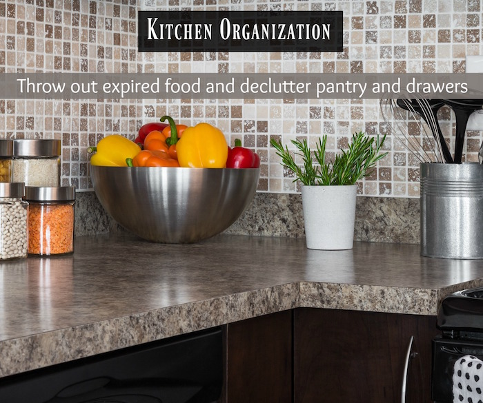 AHS kitchen organization home maintenance checklist
