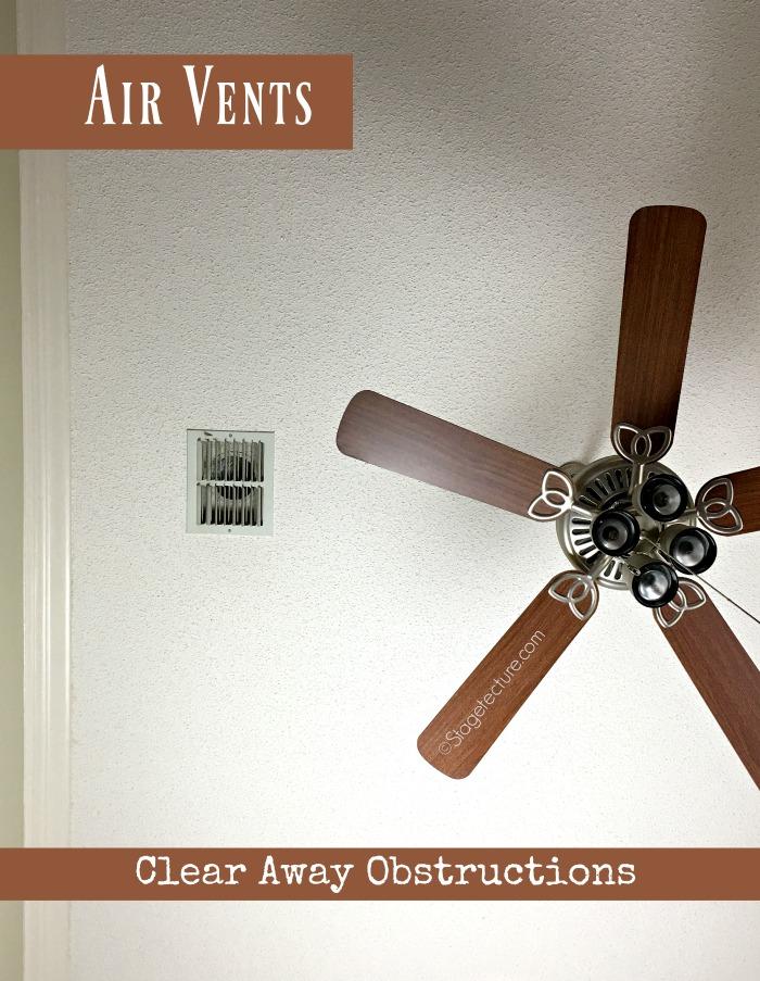 air vents home maintenance checklist