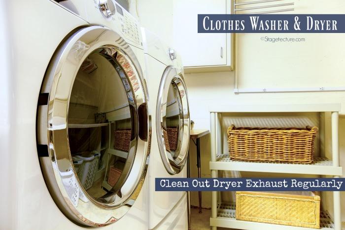 clothes dryer home maintenance checklist