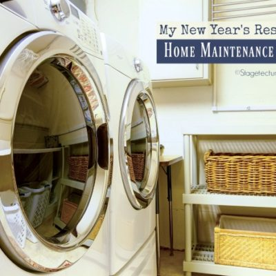 My New Year's Resolutions Home Maintenance Checklist