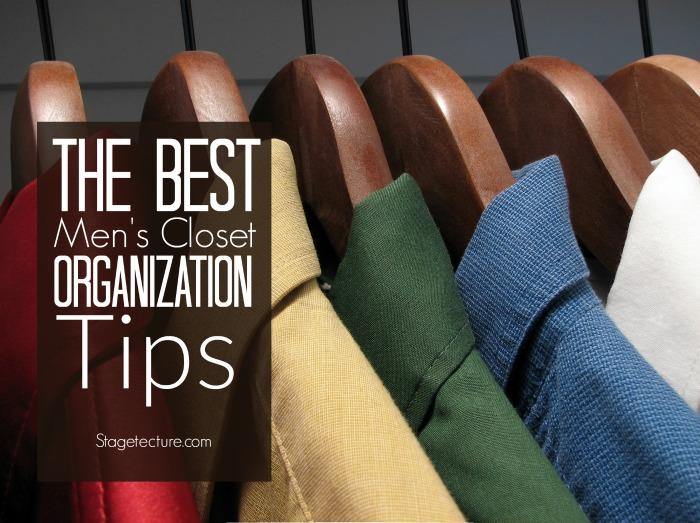 mens closet organization tips ideas