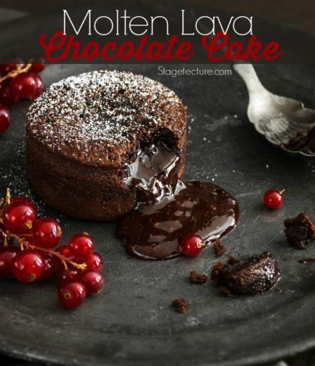 Valentine's Molten Lava Chocolate Cakes Recipe