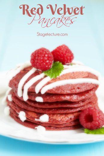 Breakfast in Bed: Valentine's Red Velvet Pancakes Recipe