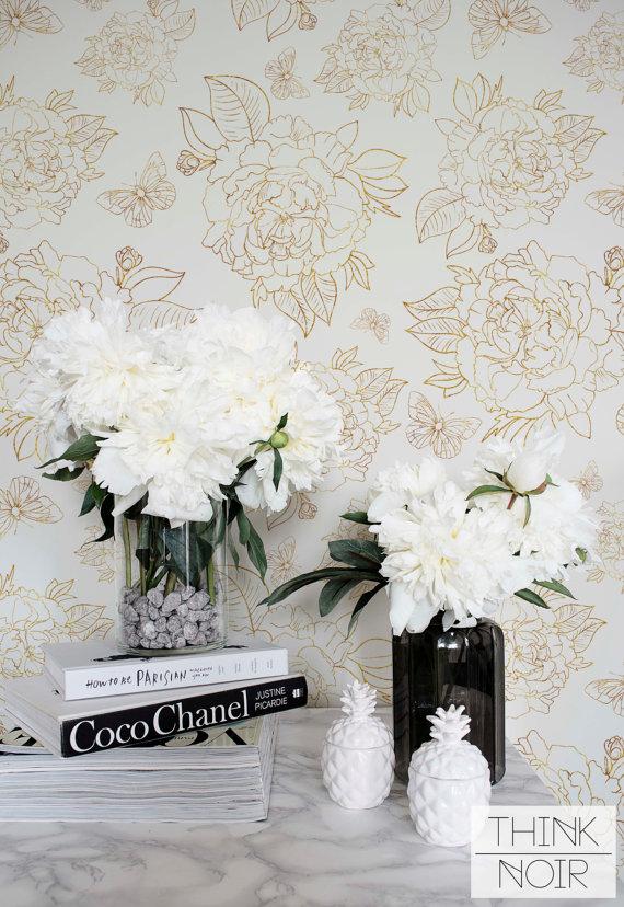 spring florals wallpaper