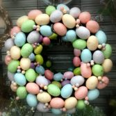 how to make easter egg wreaths