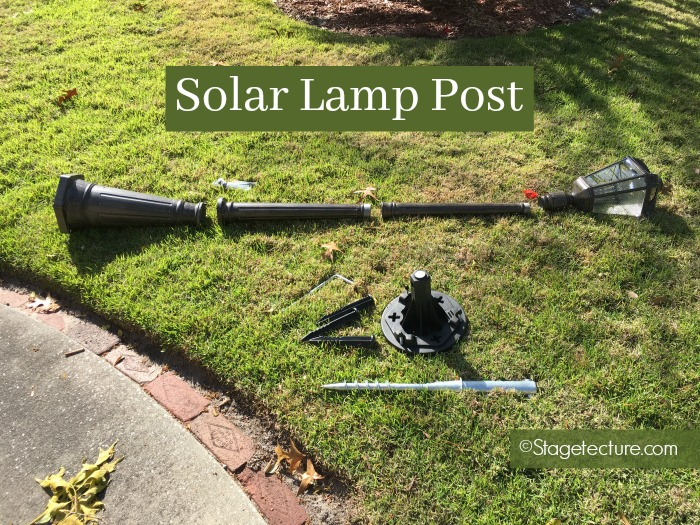 solar lamp post unassembled