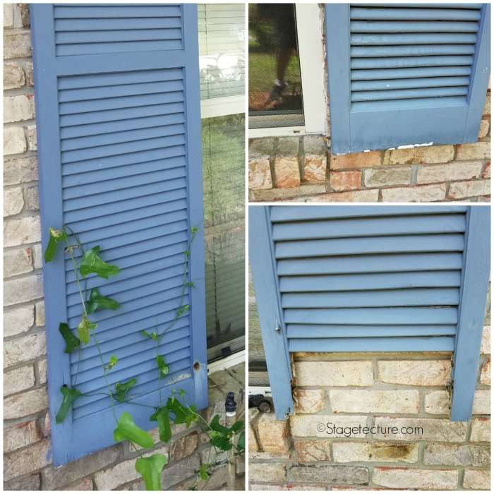 exterior design old wood shutters