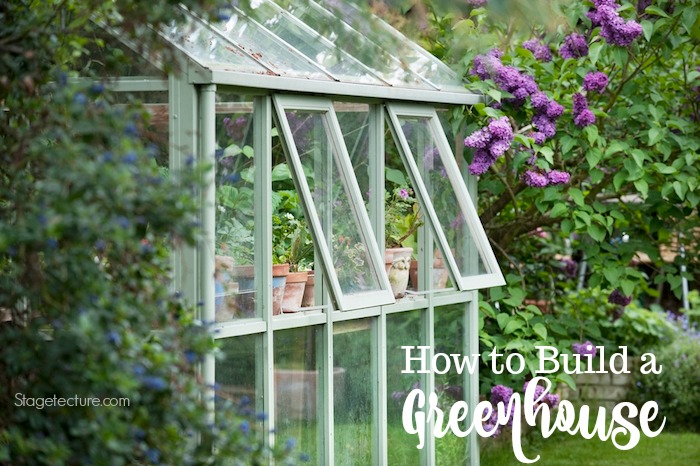 how to build a greenhouse at home