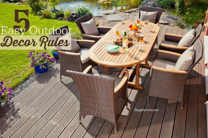 outdoor decor rules patio furniture
