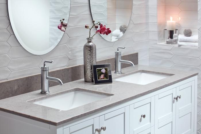 bathroom sink double vanity Drockafellow
