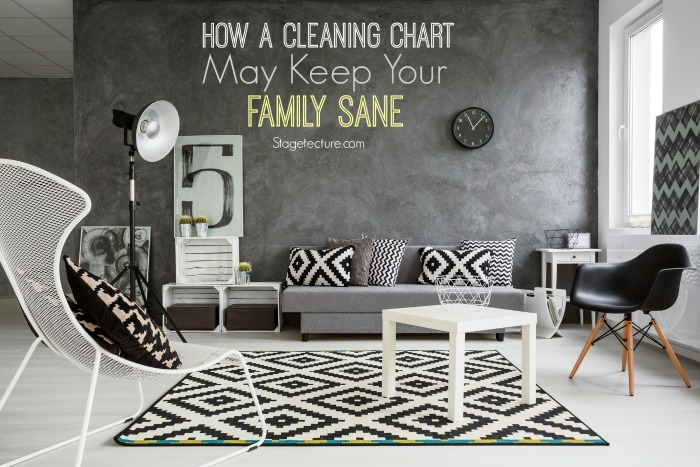 cleaning chart black white interiors
