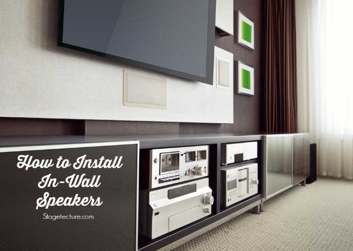 In wall speakers installation