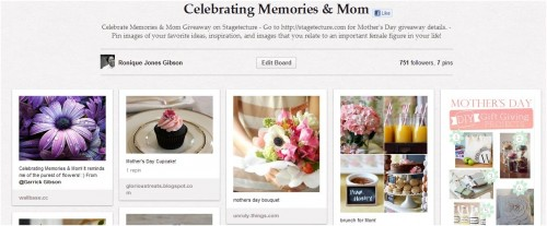 'Celebrating Memories & Mom Giveaway' with UPrinting & Stagetecture
