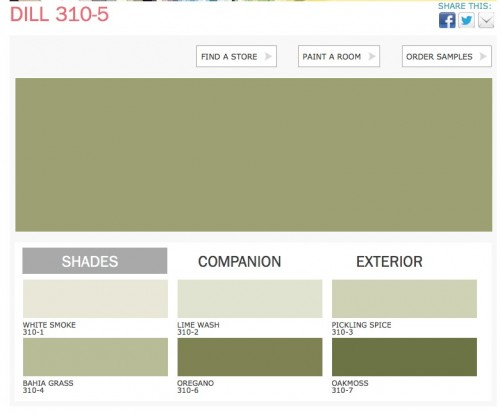 Dill color PPG Paints