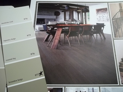 choosing paint color flooring