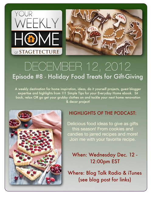 Stagetecture Radio – Holiday Food Treats to Give