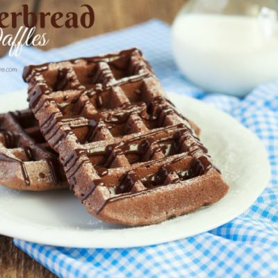 Holiday Breakfast: Christmas Gingerbread Waffles Recipe