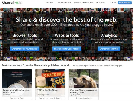 shareaholic publishers network Stagetecture