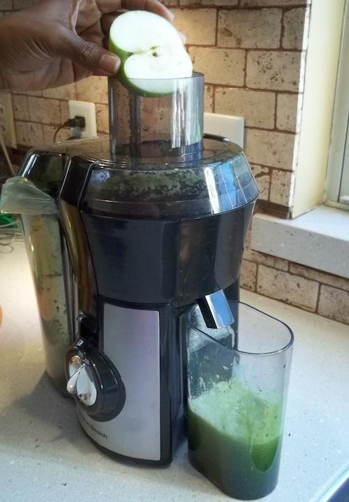 hamilton beach juicer green juice apples