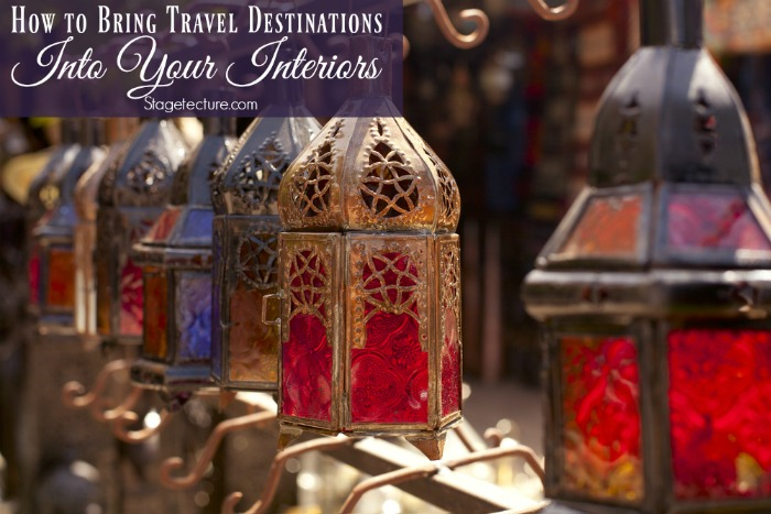 travel destinations into your interiors