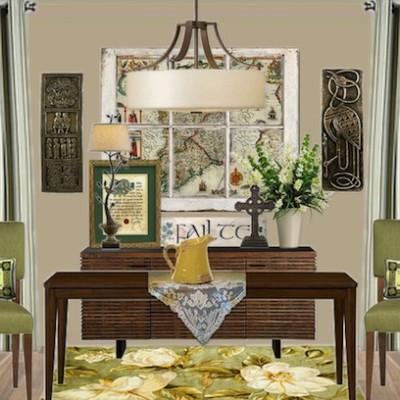 Olioboard Inspiration: A Festive Irish Home: St. Patrick's Dining Room