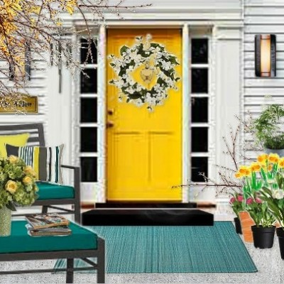 Olioboard Inspiration – Bringing Springtime to your Front Porch