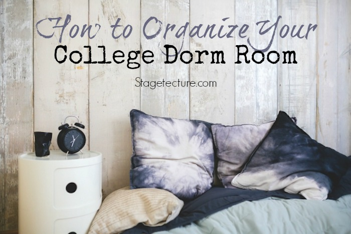 college dorm room organization