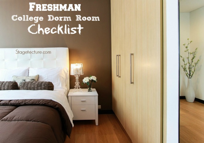 Freshman College Dorm Room Essentials Checklists