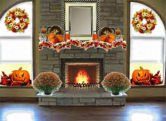 Olioboard Inspiration - Cozy Autumn Fireplace Mantle Ideas