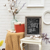 halloween decorations chalkboard