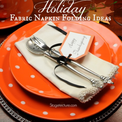 Creative Holiday Fabric Napkin Folding Ideas